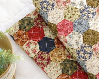 "Quilted Cotton Fabric BH Hexagon By The Yard 44"" laceking2013"