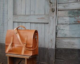 Mens gift Leather Briefcase Big Messenger Bag 17 inch Laptop Bag Leather Shoulder Bag husband gift for him
