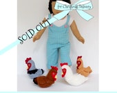 Doll CHICKENS for American Girl ®, 18-inch Dolls perfectly proportioned for the Lemon Bay Doll Chicken Coop