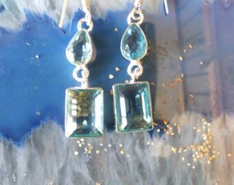 Blue Topaz Sterling Silver Earrings