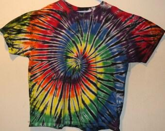 "Adult 3X T-Shirt, Rainbow/Black"" (E)"