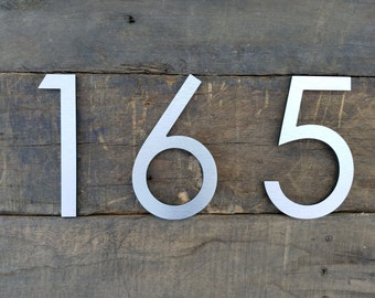 Modern Metal Letters Delectable Modern House Numbers  Etsy Design Ideas