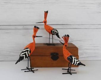 Vintage Small Bird Figure, Vintage Orange Bird