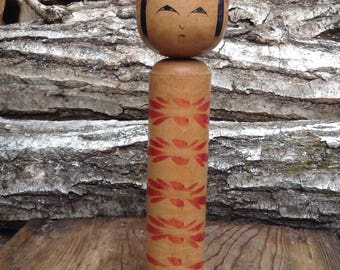 Antique  Japanese old wooden doll Kokeshi