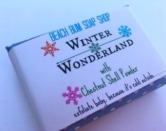 Balsam and cedar soap, WINTER WONDERLAND, winter soap, balsam scented soap, cedar scented soap, soap, soap in handmade, exfoliating soap