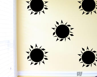 sun wall decals nursery decals sun decal nursery decor