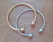 20% OFF Calla Bangle Bracelets Set / Layered Bracelets / Silver Plated Bangle / Gold Plated Bangle / Handmade Bangle Stacked Bracelets
