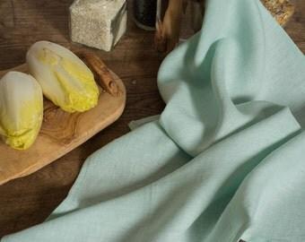 Linen Tea Towel Light Turquoise