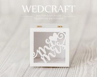 Jewelry box for rings Mr&Mrs| Jewelry | Wedding jewelry box with birds | Box | Wood |Handmade | Wooden box