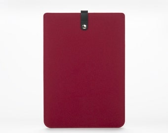MacBook Air 11 Sleeve - MacBook Air 11 Case - MacBook Air Leather Case - Red Felt Case