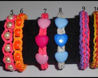 Color rubber bracelet