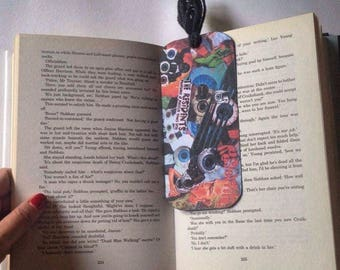 The Residents Bookmark made with collage/Contemporary Bookmark/Ask for a Custom made your fave band, film etc/Buy two get one more for FREE!
