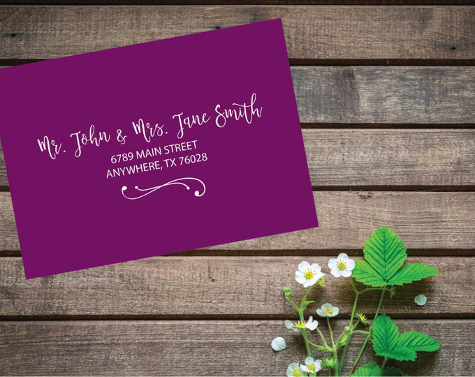 5x7 (A7), 3.5x5, 4x5, 6x6, 4x9 or 6x9 Size ENVELOPES INCLUDED Recipient Wedding Guest Address Envelope Printing Calligraphy, Multiple Colors