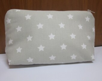 Toiletry bag with zipper, bag with zip, carrying case, perfect to take you inside the bag, to keep makeup, for baby
