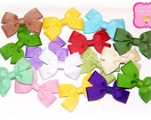 Pick 10 Clippies, Solid Color Clippies, Pick Your Own Color Bows, Small Solid Color Bows, 3 inch Clippies, Colorful Clippies, Small Bows