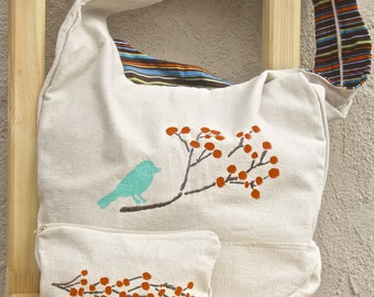 Canvas tote and zippered pouch