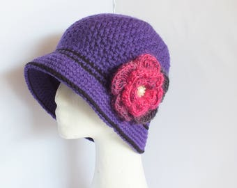 Crochet Winter Flapper Hat