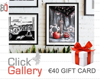 Etsy Gift Card, ClickGallery, Etsy Gift Certificate, Mother's Day Gift, 40 EURO (Other Amounts Available) Housewarming Gift, Home decor, art