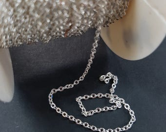 1mm Silver Oval Link Chain B260S