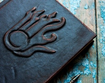 Skyrim Inspired Brown Leather Journal