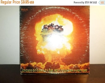Save 30% Today Vintage 1968 LP Record Jefferson Airplane Crown of Creation Black Label Very Good Condition 7880