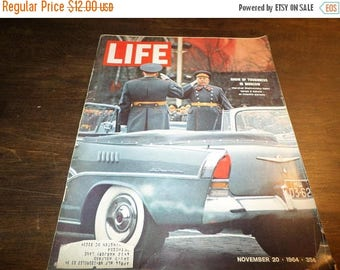 Save 25% Now Vintage Life Magazine November 20 1964 Moscow Excellent Original Condition Neat Old Ad's