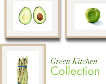 Green Kitchen Art Collection