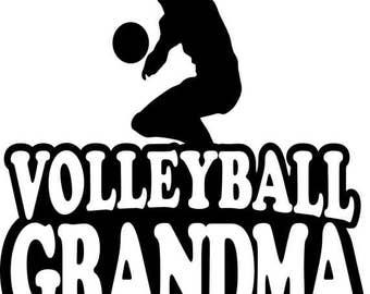 Volleyball Grandma Sweatshirt/ Volleyball Grandma Hoodie/ Volleyball Sweatshirt/ Volleyball Gift/ Many Colors
