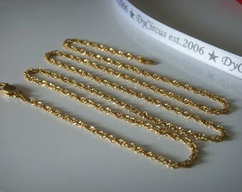 "Milor Gold Vermiel 24"" Chain"