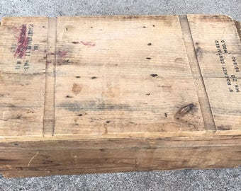 """US Navy 1949 Post WWII Wooden Ammo crate 5"""" Rockets"""
