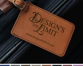Personalized Luggage Tags Engraved with Choice of Design & Font from Our Selection (Each - Select Color)