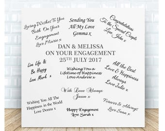 Your Engagement Guestbook Personalised Ceramic Plaque