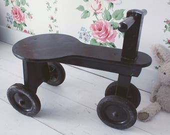 Childs Vintage wooden Push-along
