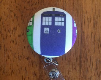 Doctor Who Tardis Retractable ID Keycard/Key Holder