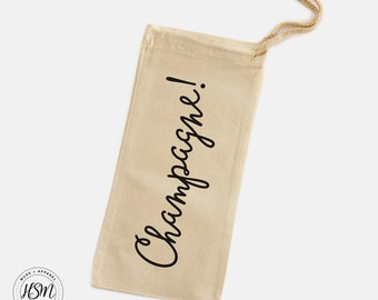 Champagne! Canvas Wine Bag