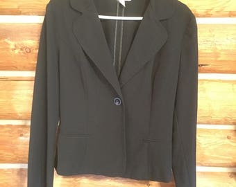 Vintage, By Choice, suit jacket, size large, black