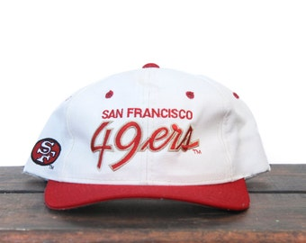Vintage San Francisco Forty Niners 49ers Sports Specialties Script Football NFL Hat Snapback Baseball Cap