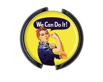 Rosie the Riveter Stethoscope ID tag, Name Tag, ID Tag