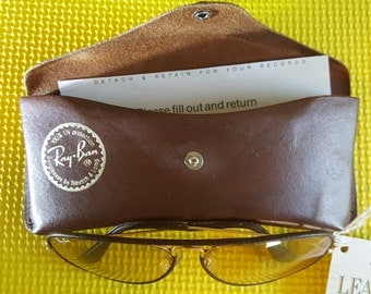 Ray Ban Leathers Sunglasses by Bausch & Lomb. Size 58/14.