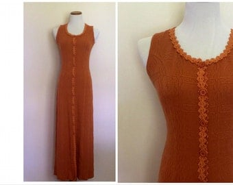 Festival Rust Orange Knit Dress