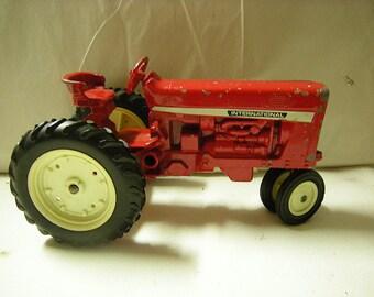 vintage tractor-international tractor-vintage toy-collectibles-shelf decor-rustic-retro-