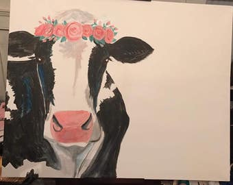 "Cow Painting, Original, ""Legendairy"""