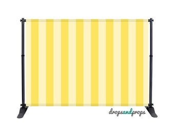 Soft Yellow Vertical Stripes – Photography Backdrop