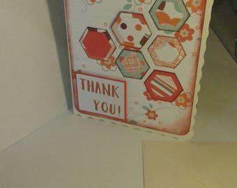 Handmade 'thank you' card