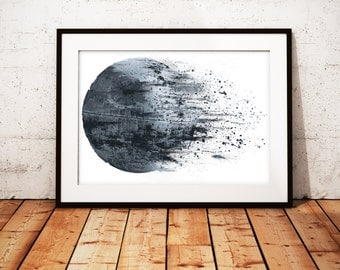 Death Star Slips Away - - limited edition print 297 x 420mm, Signed and numbered.