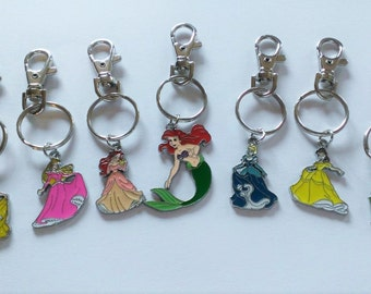 YOU CHOOSE Princess Backpack Clip/Keychain