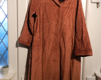 ITEM of The Week-SALE-Vintage Rain Coat-English Fashion-Morcosia-Made in England-Never Been Worn-Size 12-Style408 Michelle-BrownTan-Corduroy