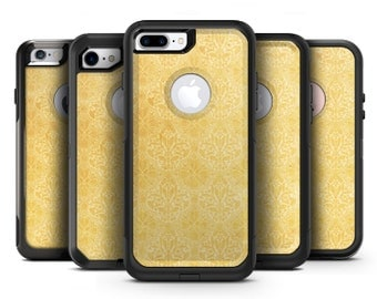 Yellow Vertical Damask Pattern - OtterBox Case Skin-Kit for the iPhone, Galaxy & More