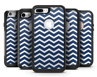 White and Navy Chevron Stripes - OtterBox Case Skin-Kit for the iPhone, Galaxy & More