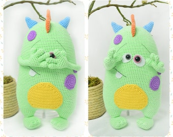 PATTERN - Cute Monster Kuboo (crochet, amigurumi)